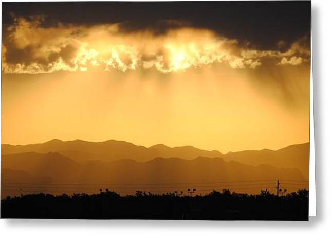 Mountians After The Rain Greeting Card