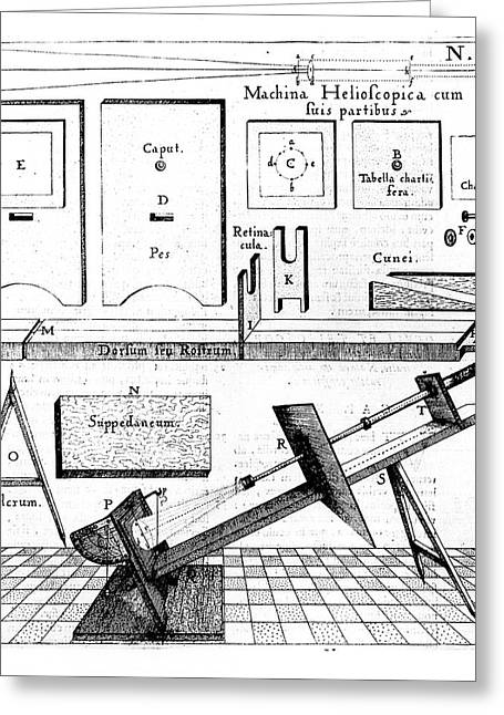 Mounting For A Refracting Telescope Greeting Card