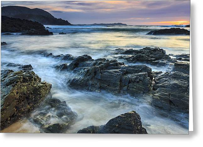Mourillar Beach Galicia Spain Greeting Card