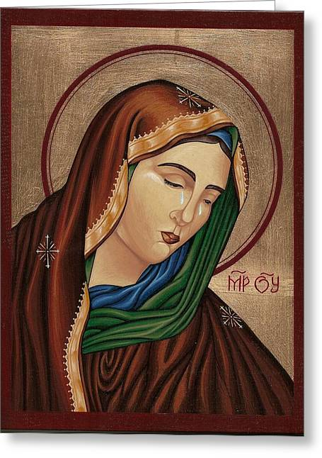 Mourning Virgin Mary 2 Greeting Card
