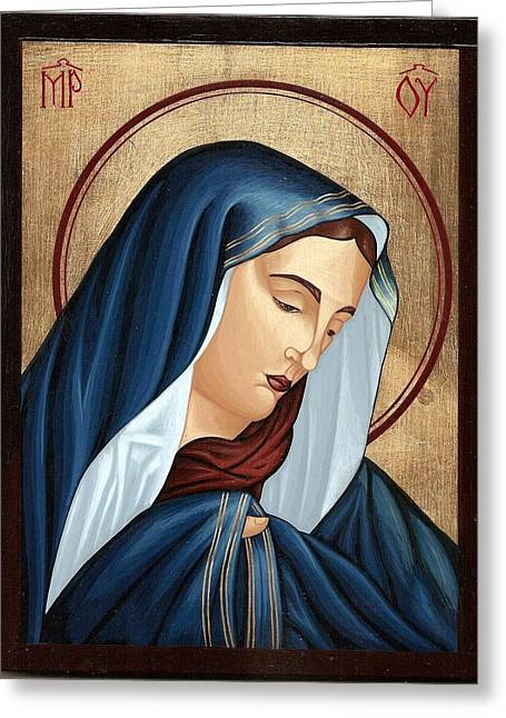 Mourning Virgin Mary Greeting Card