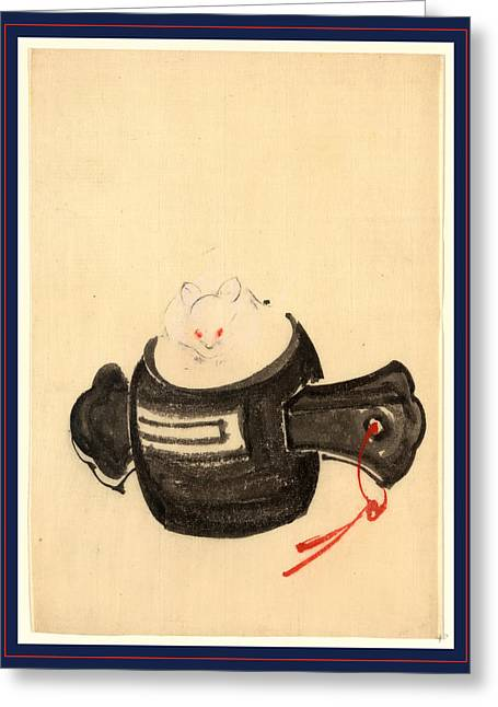 Mouse, Facing Front Between 1830 And 1850 Greeting Card by Japanese School