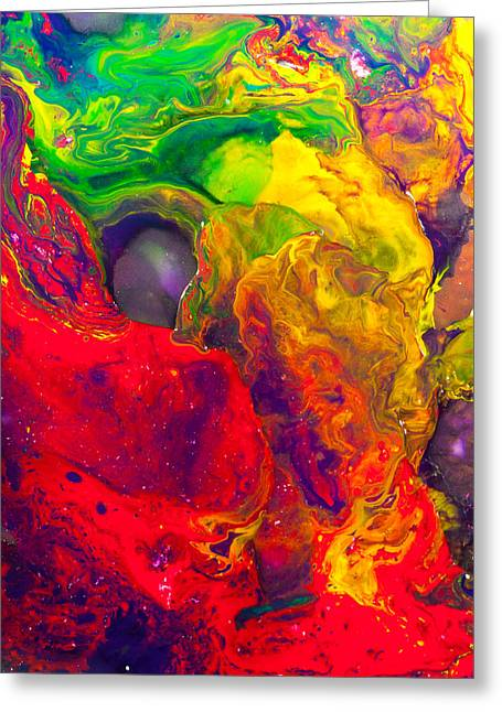 Mouse - Abstract Painting Greeting Card