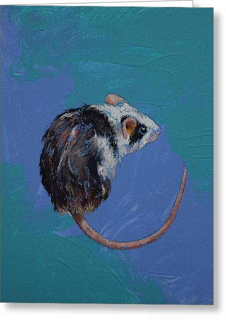 Mouse Greeting Card by Michael Creese