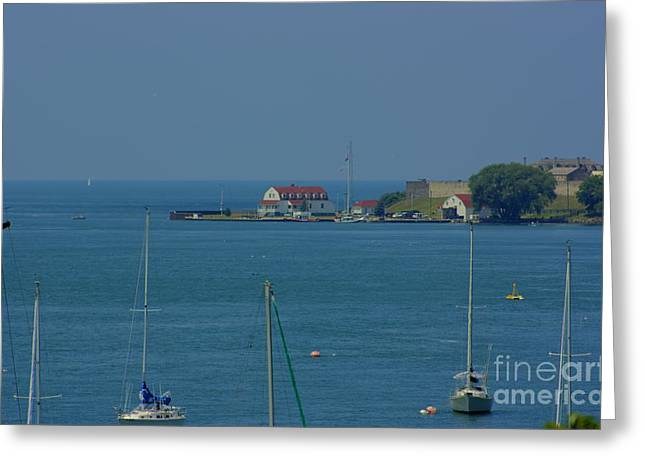 Mouth Of The Niagara River Greeting Card