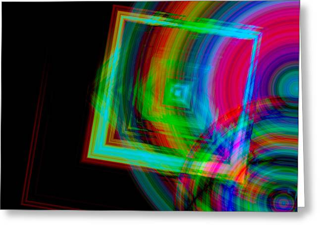 Movement Mingling With Color Greeting Card by Teri Schuster