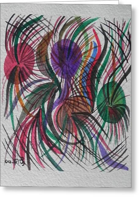Movement Greeting Card by Usha Rai
