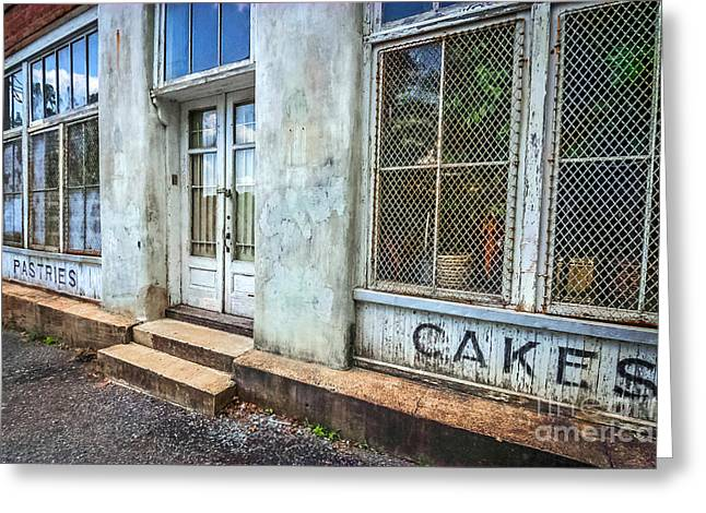 Greeting Card featuring the photograph Movie ''hunger Games'' Bakery by Marion Johnson