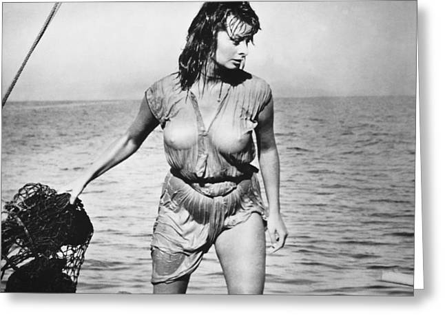 Movie Star Sophia Loren Greeting Card