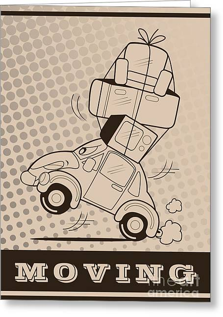 Moving Car Greeting Card
