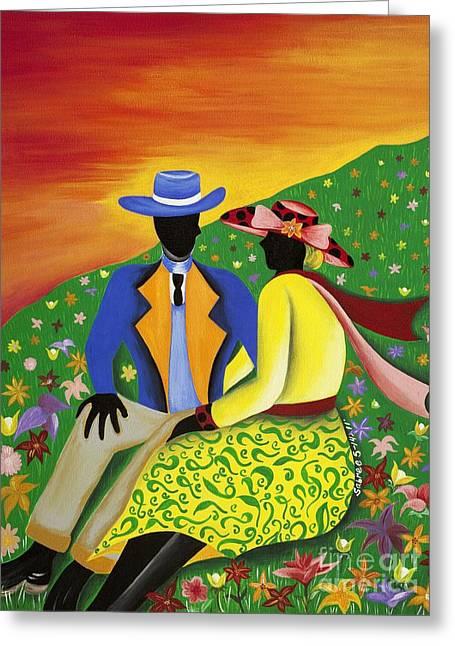 Moving Forward Greeting Card by Patricia Sabree