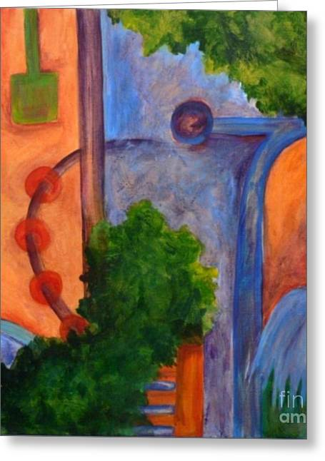Greeting Card featuring the painting Moving On- Caprian Beauty Series 2 by Elizabeth Fontaine-Barr