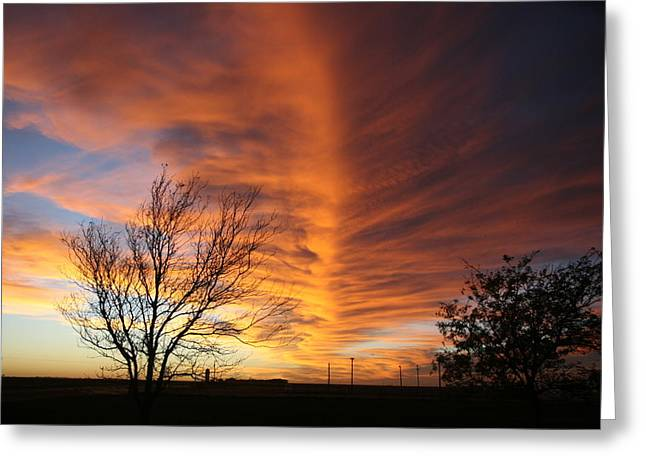 Greeting Card featuring the photograph Moving Sky by Shirley Heier