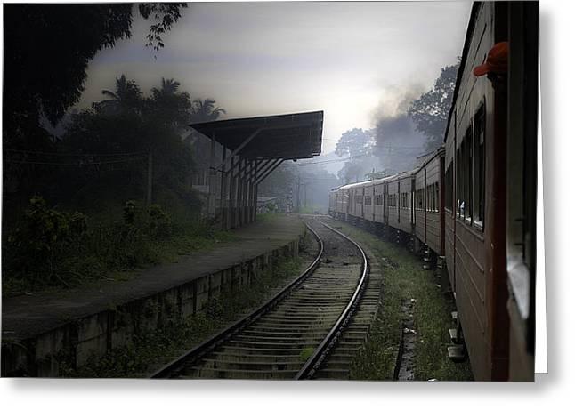 Moving Train Greeting Card by Sanjeewa Marasinghe
