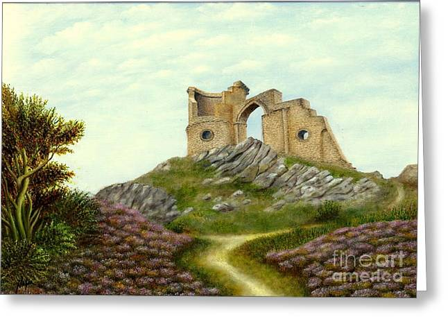 Mow Cop Castle Greeting Card by Nasar Khan