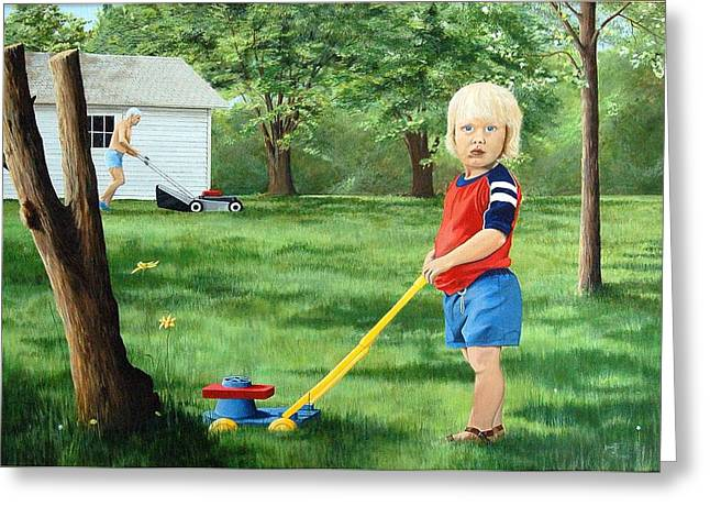 Mowing Greeting Card by AnnaJo Vahle