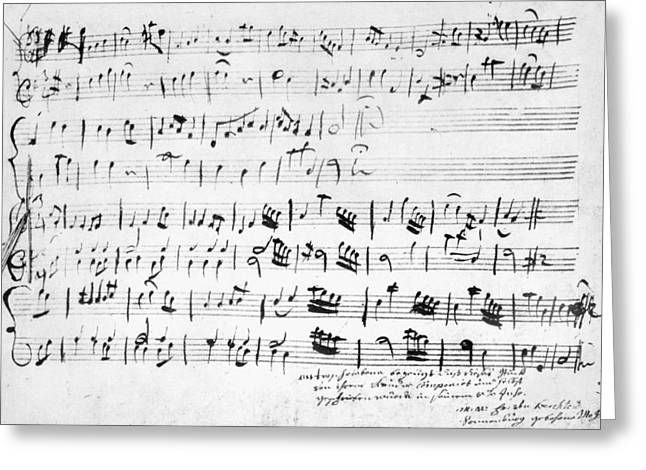 Mozart Minuet In G, 1762 Greeting Card by Granger