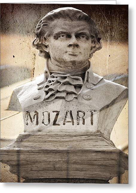 Mozart Greeting Card by Steven Michael
