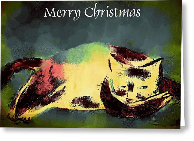 Mprints - Christmas Cheer 18 Greeting Card by M  Stuart