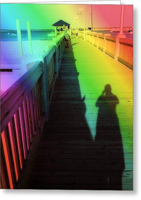 Mprints- The Long Walk Greeting Card by M  Stuart