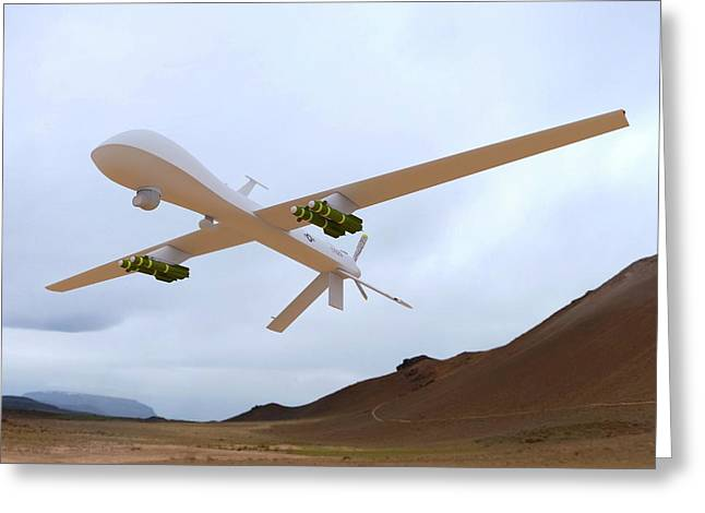 Mq-1 Predator Spyplane Greeting Card