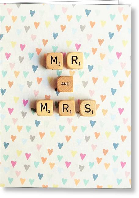 Mr And Mrs Greeting Card by Mable Tan