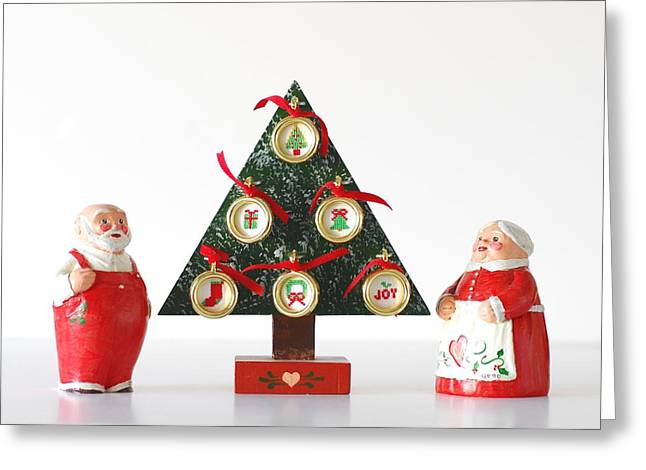 Mr. And Mrs. Santa Greeting Card by Quwatha Valentine