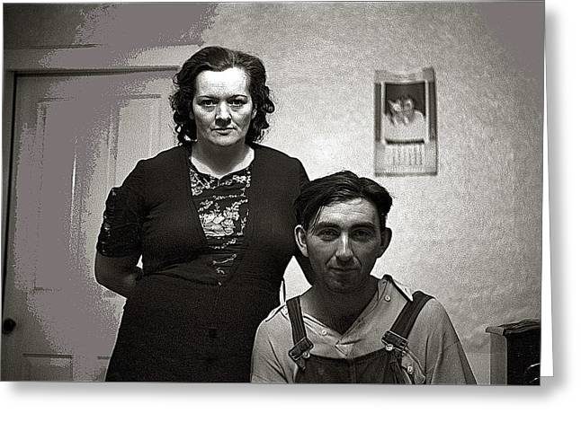 Mr. And Mrs. William Gaynor Dairy Farmers Fsa 35mm Photo By Jack Delano Near Fairfield Vermont  1941 Greeting Card by David Lee Guss