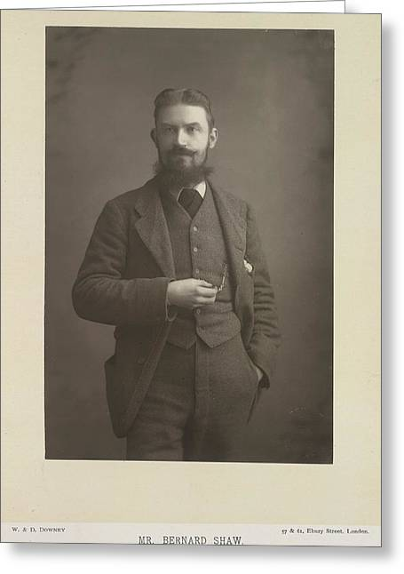 Mr Bernard Shaw Greeting Card by British Library