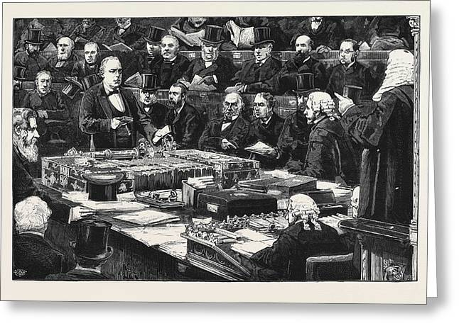 Mr. Bradlaugh Taking The Oath In The House Of Commons Greeting Card by English School