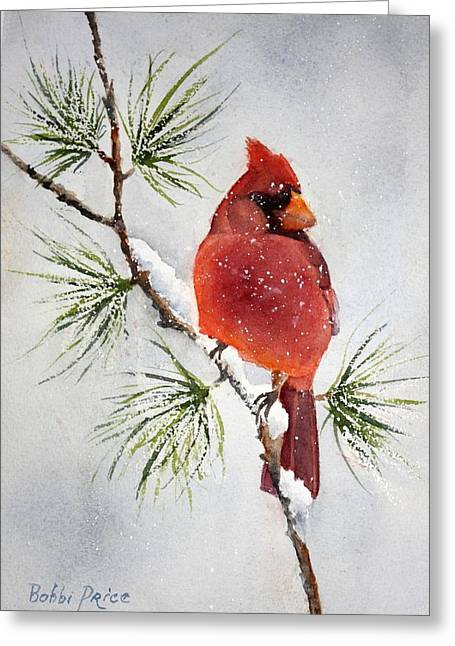 Mr Cardinal Greeting Card by Bobbi Price