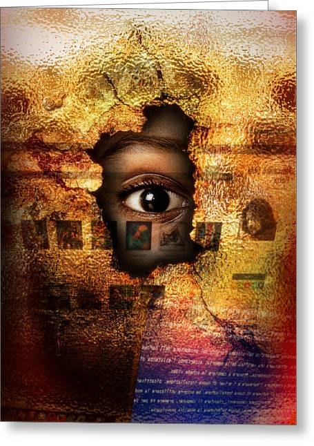 Mr C's Watching Me Greeting Card by Alessandro Della Pietra
