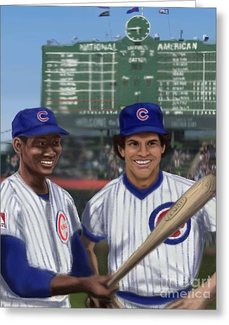 Mr. Cub And Ryno Greeting Card by Jeremy Nash