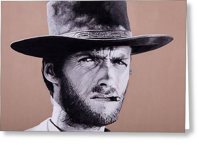 Mr. Eastwood Greeting Card by Ellen Patton
