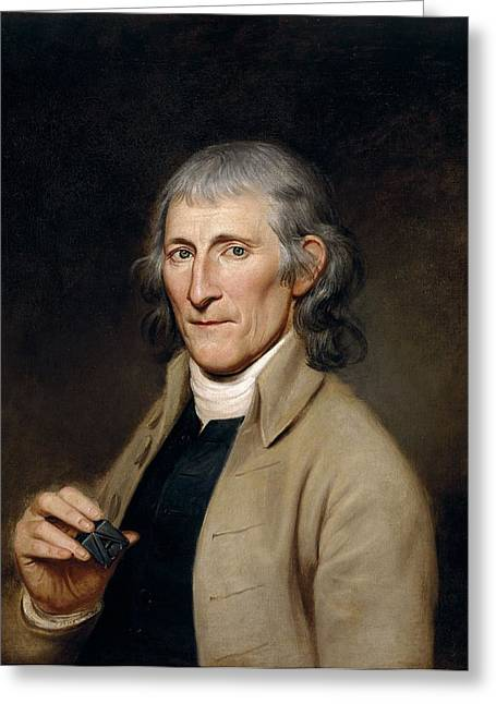 Mr. Francis Bailey, 1791 Oil On Canvas Pair To 403022 Greeting Card by Charles Willson Peale