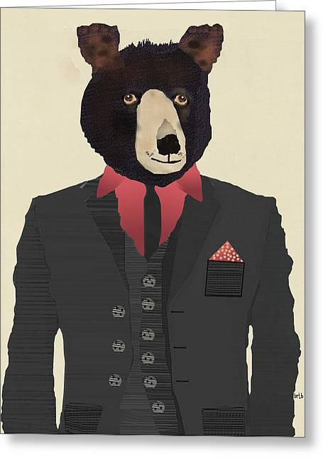 Mr Grizzly Bear Greeting Card