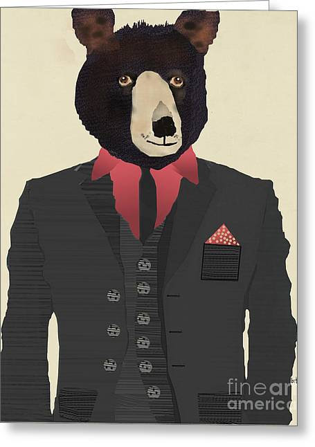 Mr Grizzly Greeting Card