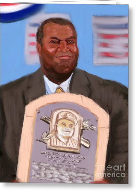 Mr. Gwynn Goes To Cooperstown Greeting Card by Jeremy Nash