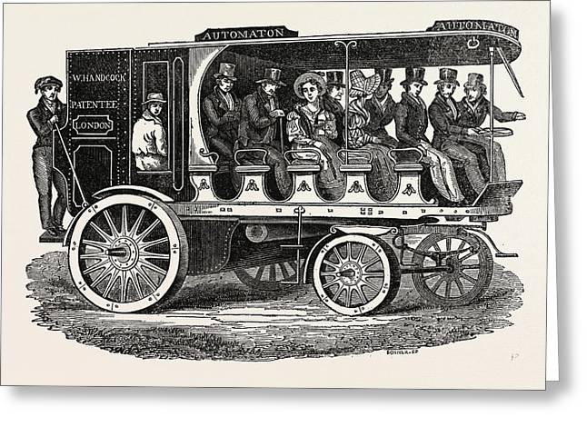 Mr. Hancocks Last New Steam Carriage Greeting Card by Litz Collection