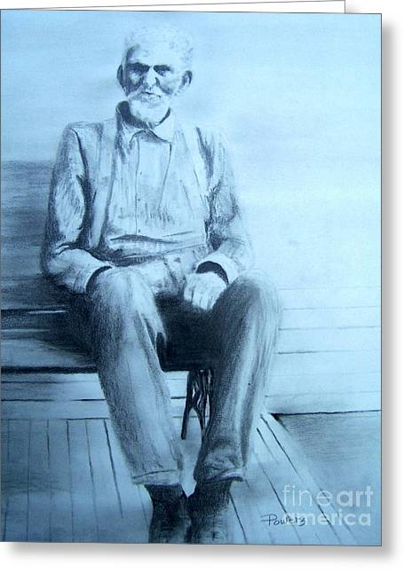 Mr. Higgs Greeting Card by Mary Lynne Powers