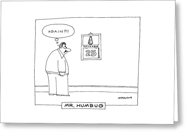'mr. Humbug' Greeting Card