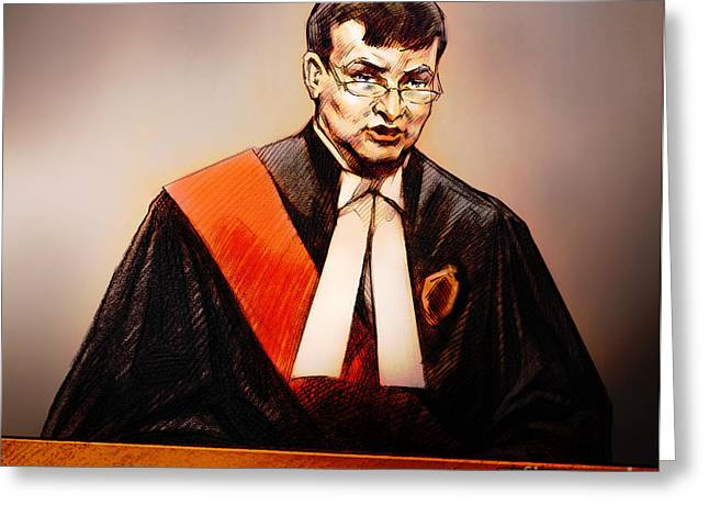 Mr. Justice Mcmahon - Judge Of The Ontario Superior Court Of Justice Greeting Card by Alex Tavshunsky