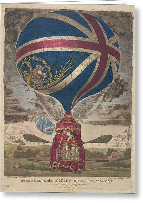 Mr. Lunardi's New Balloon Greeting Card by British Library