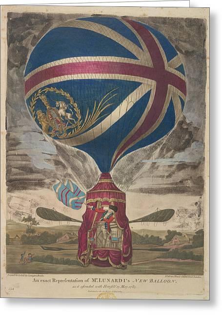 Mr. Lunardi's New Balloon Greeting Card by British Library