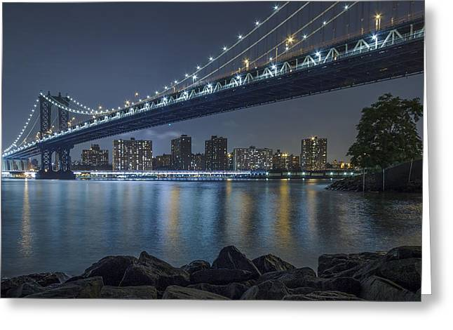 Mr Manhattan  Greeting Card by Anthony Fields