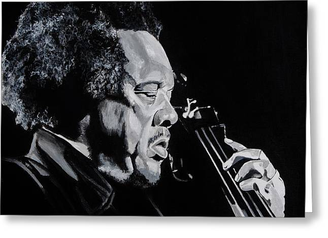 Mr Mingus Greeting Card by Brian Broadway