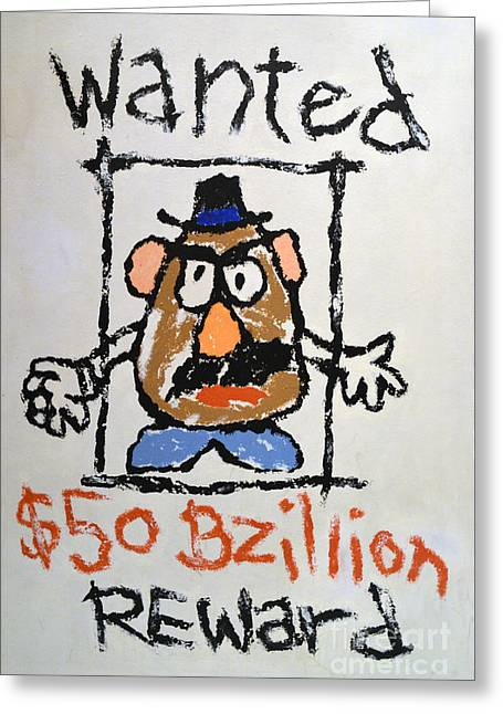 Greeting Card featuring the photograph Mr. Potato Head Gone Bad by Robert Meanor