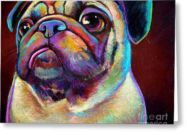 Greeting Card featuring the painting Mr. Pugnacious  by Robert Phelps