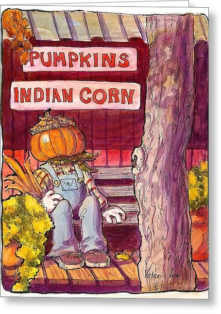 Mr. Pumpkin Greeting Card