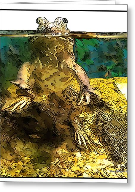 Mr. Toad Greeting Card by Joan  Minchak